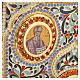 Coprilezionario ottone dorato con smalti Gesù Evangelisti s6