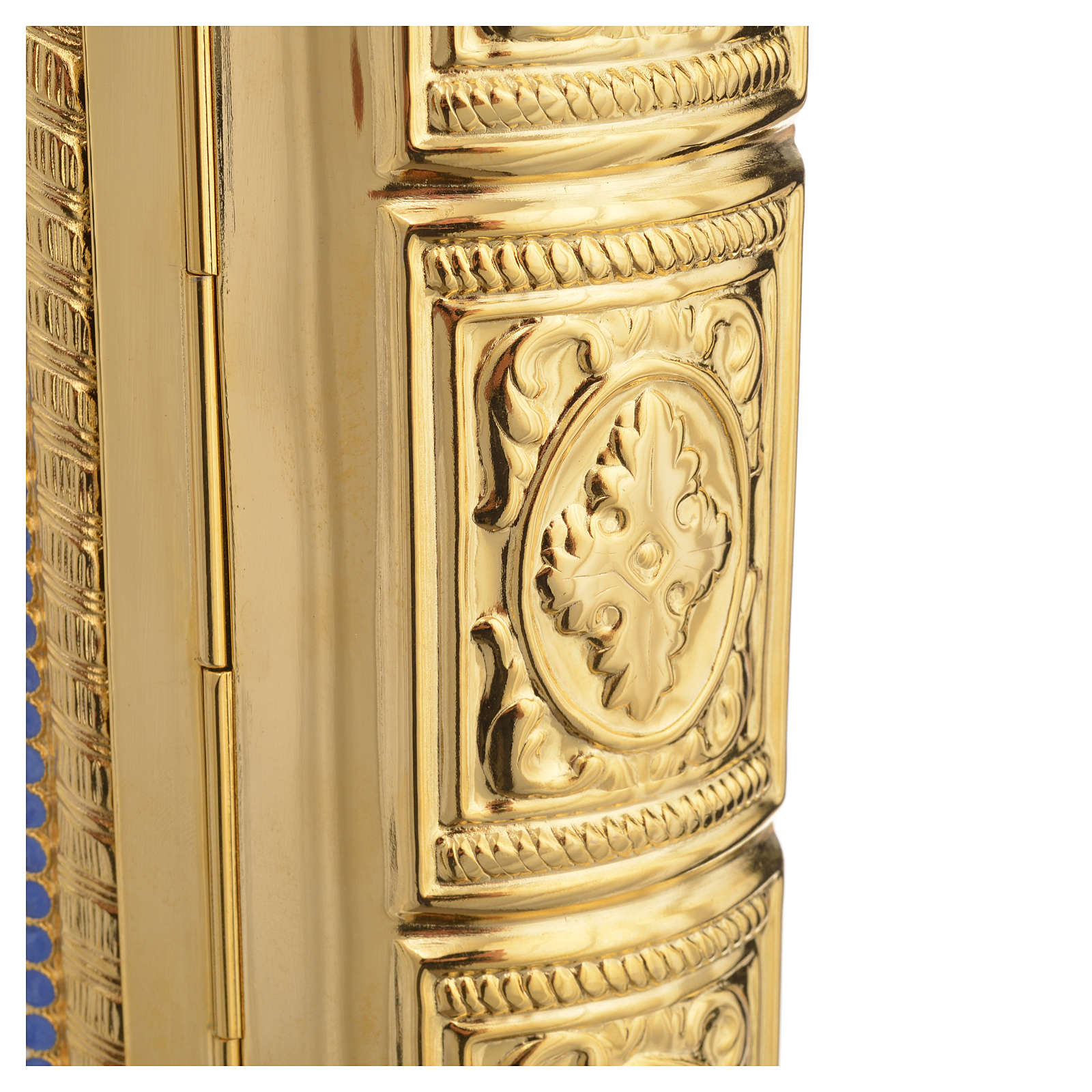 Lectionary cover in Gold Brass and Varnish with Jesus and the Evangelists images 4