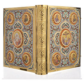 Lectionary cover in Gold Brass and Varnish with Jesus and the Evangelists images s4