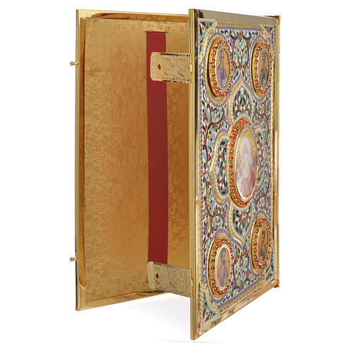 Lectionary cover in Gold Brass and Varnish with Jesus and the Evangelists images 3