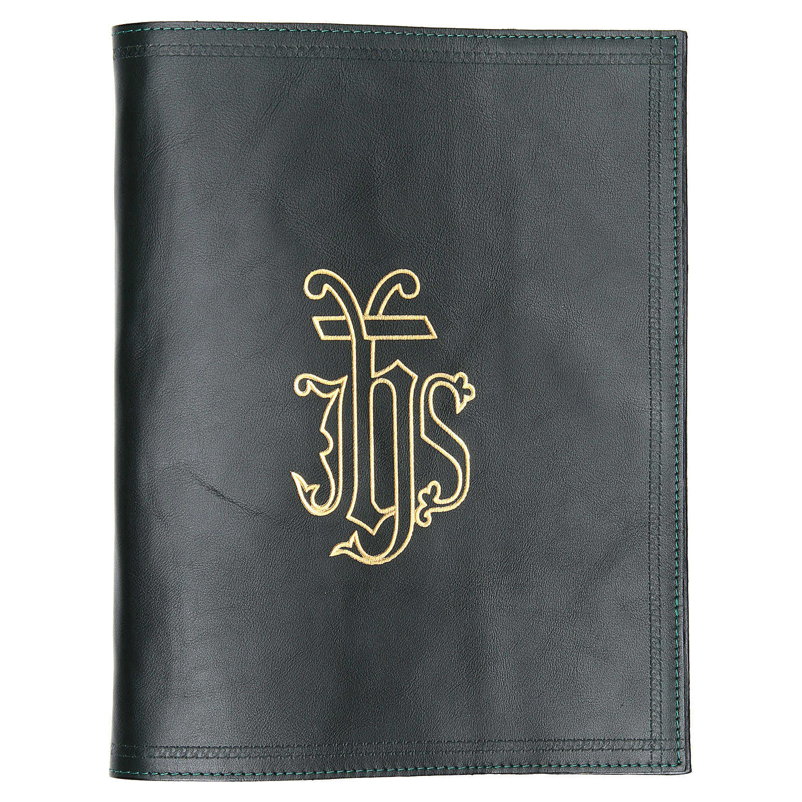 IHS Lectionary Book Cover in Green Leather 4