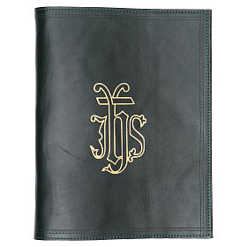 IHS Lectionary Book Cover in Green Leather s1