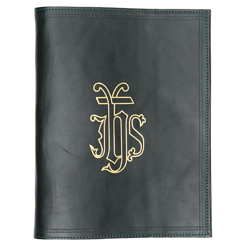 IHS Lectionary Book Cover in Green Leather 1