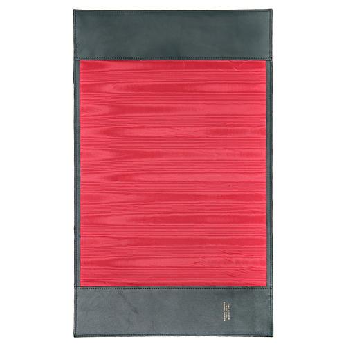 Couverture lectionnaire des Saints Alpha Oméga vert cuir 3