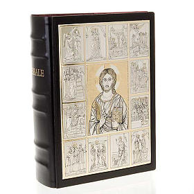 Leather Missal cover with Christ Pantocrator plaque s1
