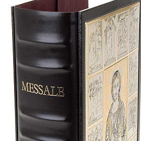 Leather Missal cover with Christ Pantocrator plaque s5