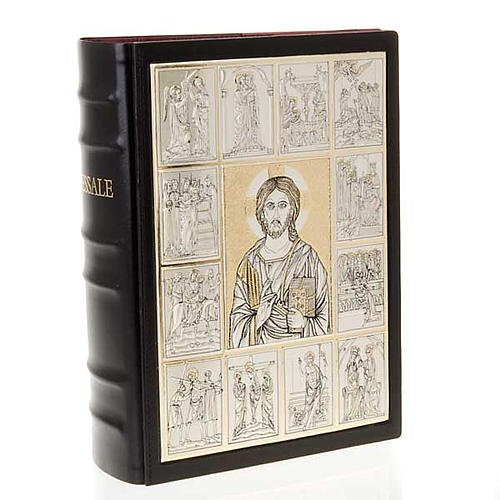 Leather Missal cover with Christ Pantocrator plaque 1