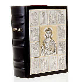 Leather Missal cover with double plaque of Christ Pantocrator s7