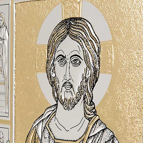 Leather Missal cover with double plaque of Christ Pantocrator 2