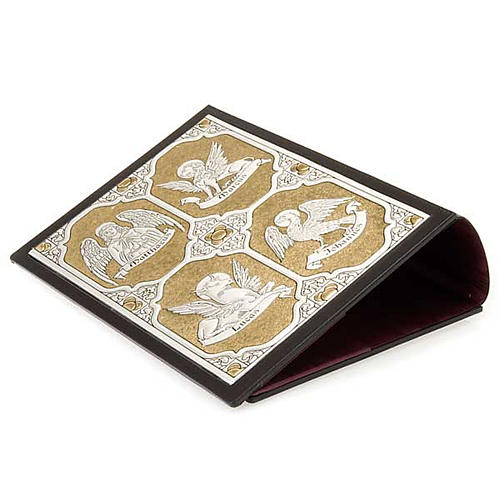 Leather Missal cover with double plaque of Christ Pantocrator 3