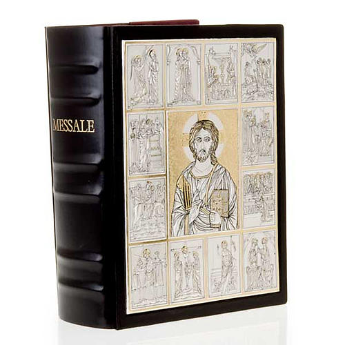 Leather Missal cover with double plaque of Christ Pantocrator 7