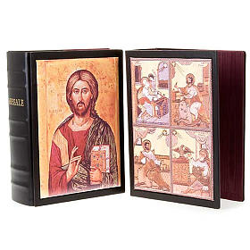 Leather Roman Missal book cover with images s1