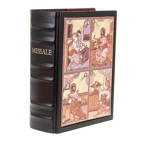 Leather Roman Missal book cover with images 3