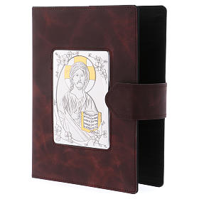 Roman Missal cover, silver and leather s2