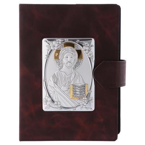 Portada Misal Romano plata y piel 1
