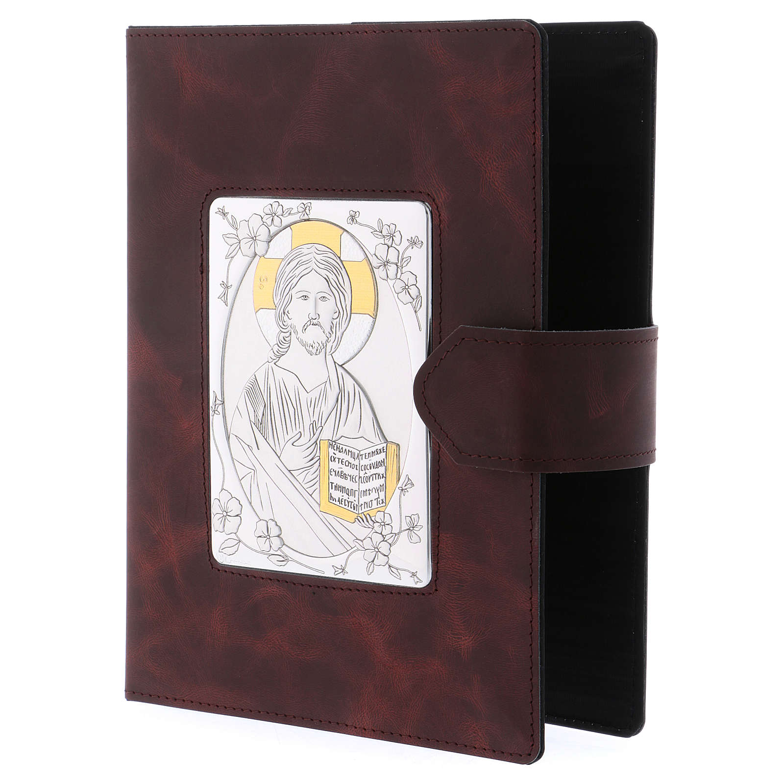 Roman Missal cover, silver and leather 4