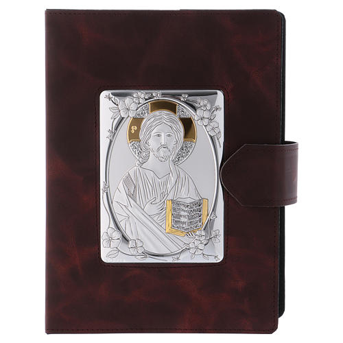 Roman Missal cover, silver and leather 1
