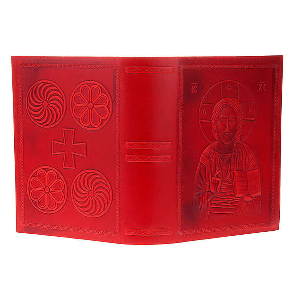 Missal cover in real red leather, Pantocrator 4