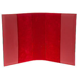 Missal cover in real red leather, Pantocrator s5