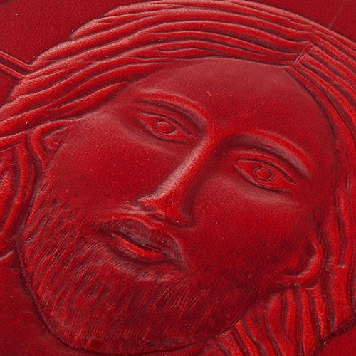 Missal cover in real red leather, Pantocrator 3