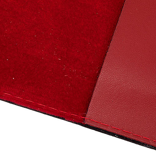 Missal cover in real leather with silver icon 2