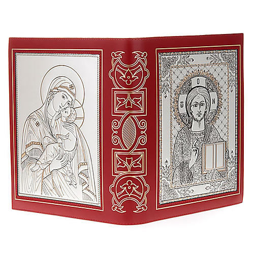 Missal cover in real leather with silver icon 7
