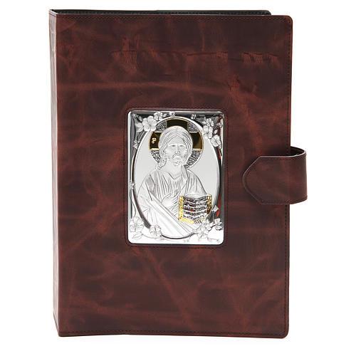 Copri messale Romano argento e pelle 1