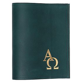 Funda para misal altar pequeño verde Alfa Omega s1