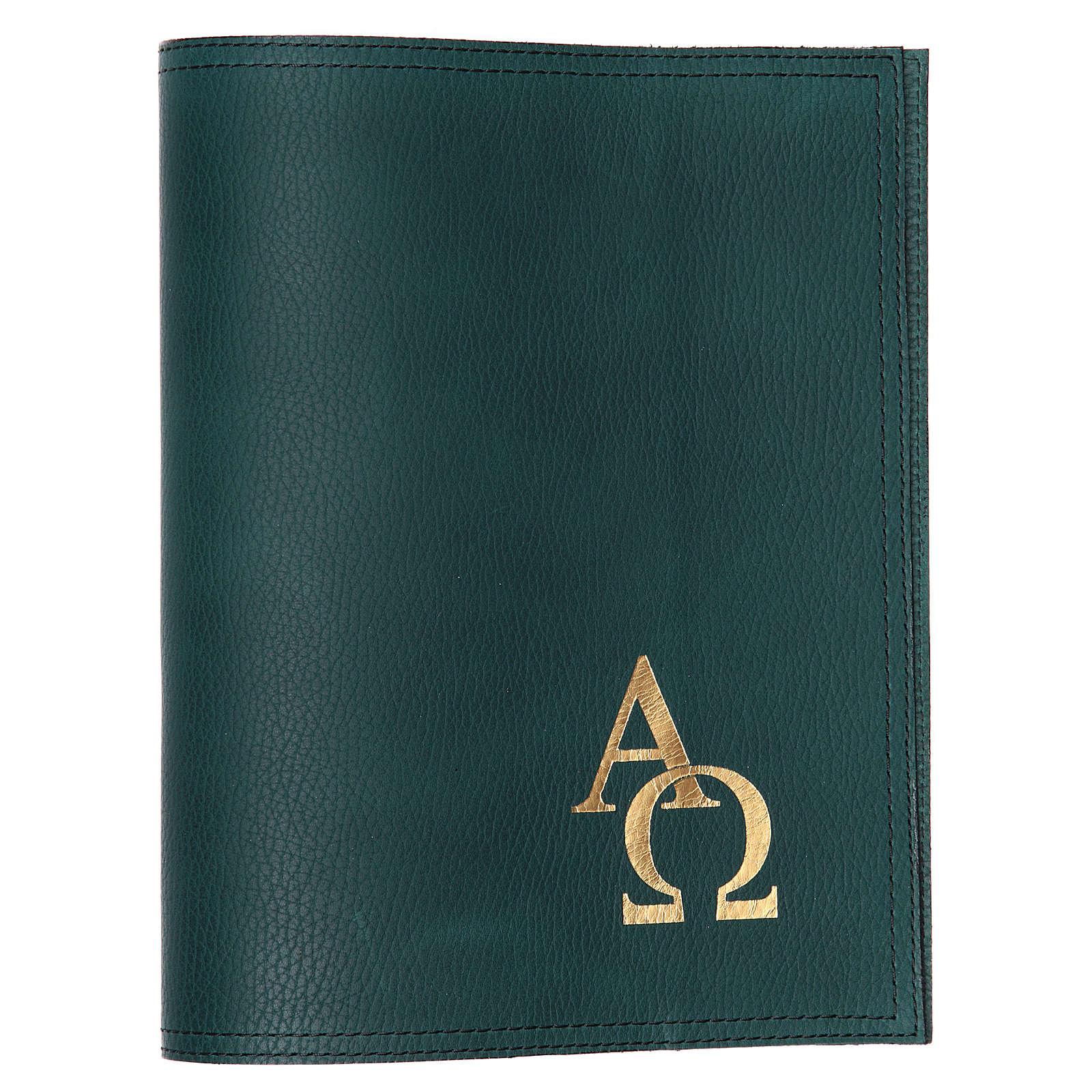 Coprimessale altare piccolo verde Alfa Omega 4