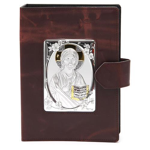 Couverture Missel Romain petit bas-relief cuir 1