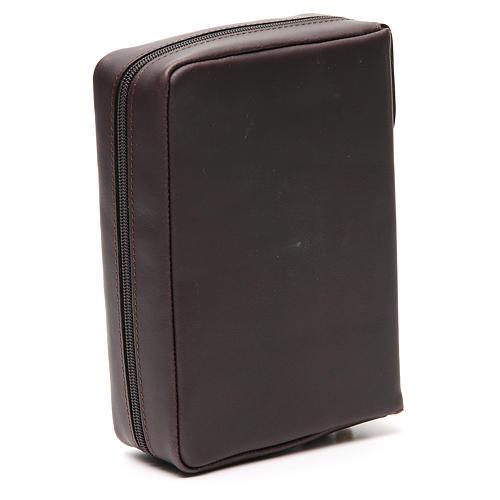 Couverture Missel Quotidien Grand cuir brun foncé Alpha Oméga 3
