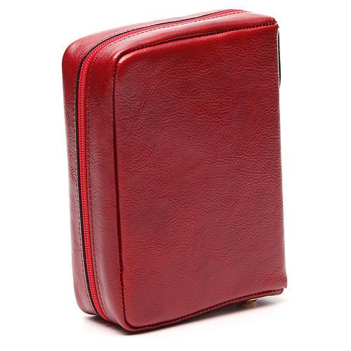 Custodia Messale Quotidiano pelle rossa Alfa Omega 3