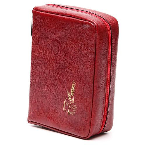 Etui na Mszał Codzienny skóra czerwona Alfa Omega 2