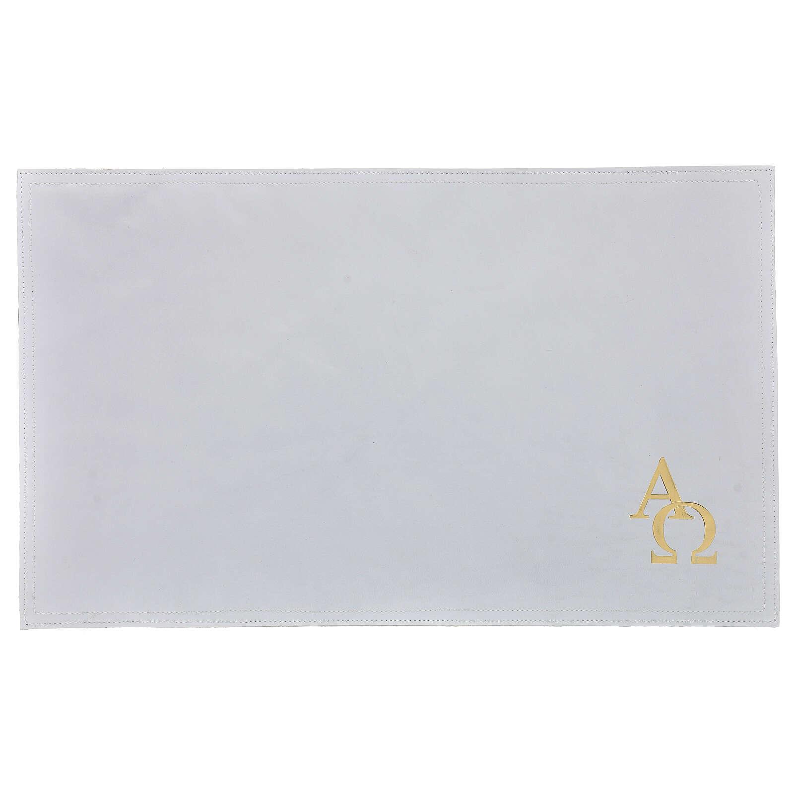 Copertina Messale III edizione bianca vera pelle  4