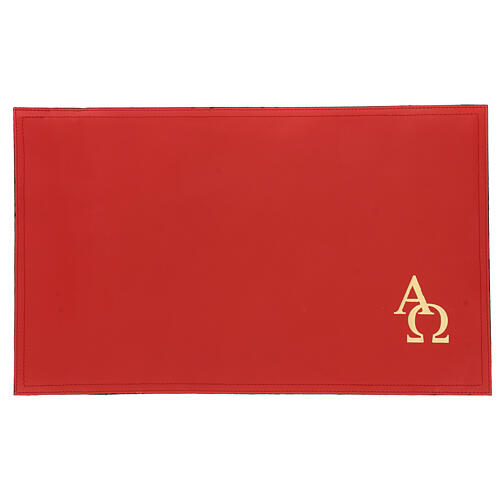 Copertina rossa vera pelle Messale III edizione 1
