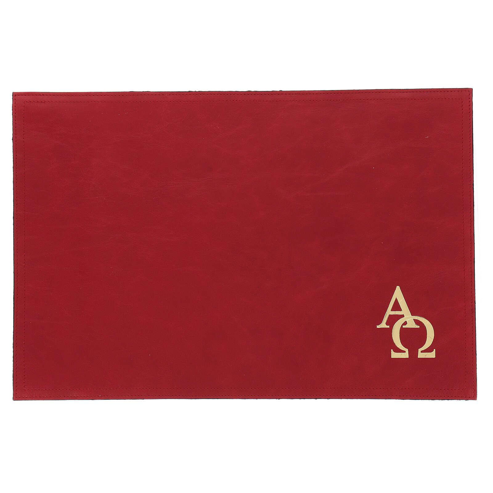 Custodia orazionale Messale III edizione vera pelle rossa  4