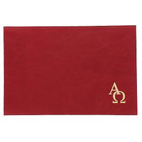 Custodia orazionale Messale III edizione vera pelle rossa  s1