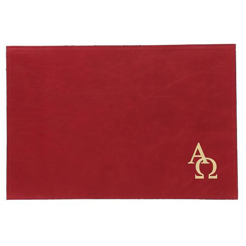 Custodia orazionale Messale III edizione vera pelle rossa  1
