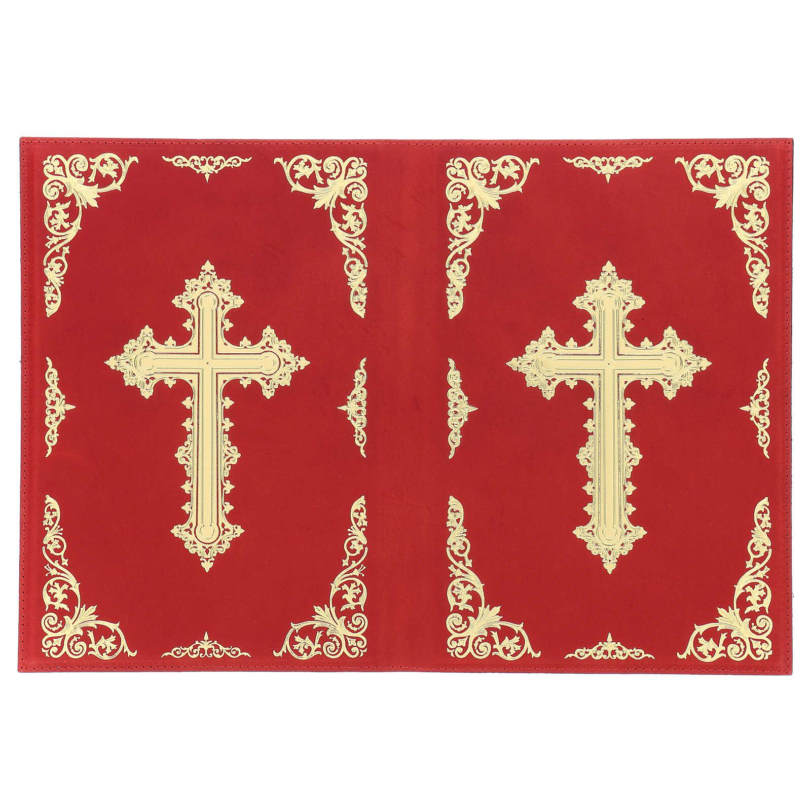 Custodia Orazionale Messale III ed. rosso vera pelle 4