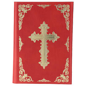 Custodia Orazionale Messale III ed. rosso vera pelle s1