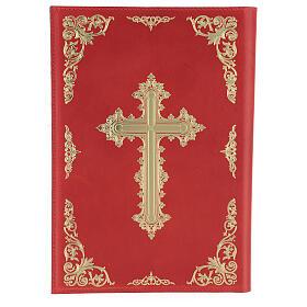 Custodia Orazionale Messale III ed. rosso vera pelle s2