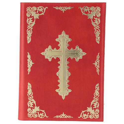 Custodia Orazionale Messale III ed. rosso vera pelle 1