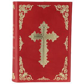 Copertina Messale III edizione vera pelle rossa s1
