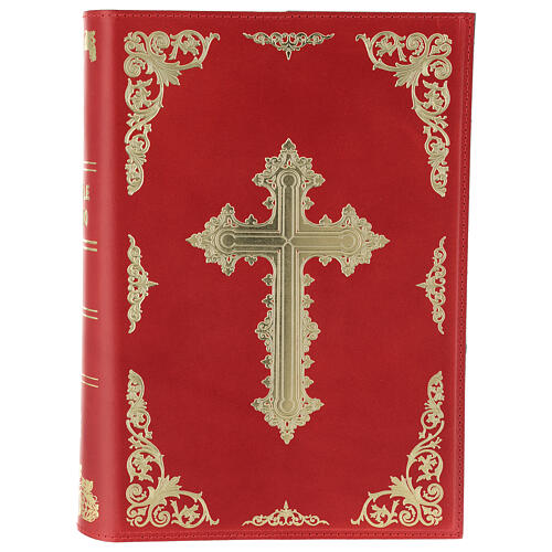 Copertina Messale III edizione vera pelle rossa 1