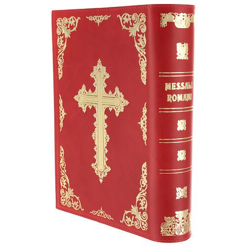 Copertina Messale III edizione vera pelle rossa 2