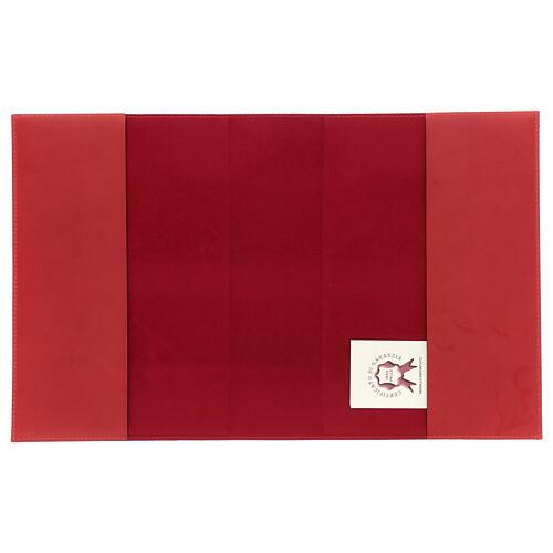 Copertina Messale III edizione vera pelle rossa 4