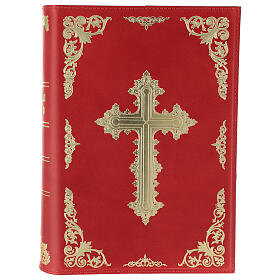 Real Leather Missal cover III edition, red s1