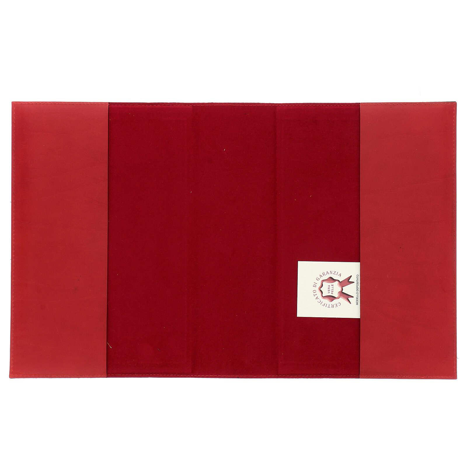 Copertina Messale III edizione in pelle rossa tessuto 4
