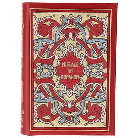 Copertina Messale III edizione in pelle rossa tessuto s1