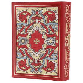 Copertina Messale III edizione in pelle rossa tessuto s2